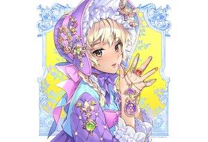 Rating: Safe Score: 30 Tags: blonde_hair bow braids brown_eyes headdress lolita_fashion nardack original ribbons User: otaku_emmy