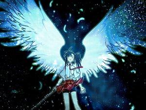 Rating: Safe Score: 31 Tags: mahou_sensei_negima sakurazaki_setsuna wings User: Oyashiro-sama
