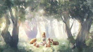 Rating: Safe Score: 52 Tags: animal book forest kounotorix2 original rabbit tree User: RyuZU