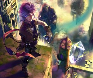 Rating: Safe Score: 40 Tags: all_male bicolored_eyes male purple_hair User: Maboroshi