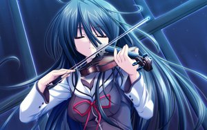Rating: Safe Score: 64 Tags: g_senjou_no_maou instrument usami_haru violin User: pantu