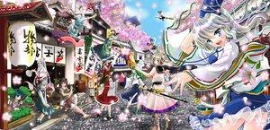 Rating: Safe Score: 51 Tags: cherry_blossoms dress flowers fujiwara_no_mokou futatsuiwa_mamizou group hajike_akira hakurei_reimu houjuu_nue japanese_clothes kaku_seiga kasodani_kyouko kirisame_marisa kochiya_sanae konpaku_youmu miko miyako_yoshika mononobe_no_futo myon petals saigyouji_yuyuko soga_no_tojiko tatara_kogasa touhou toyosatomimi_no_miko witch User: opai