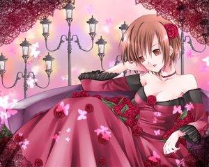 Rating: Safe Score: 30 Tags: dress flowers meiko red rose short_hair vocaloid User: HawthorneKitty