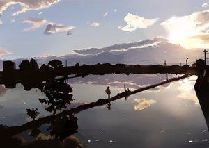 Rating: Safe Score: 75 Tags: aka_(440626) original reflection scenic silhouette User: Flandre93