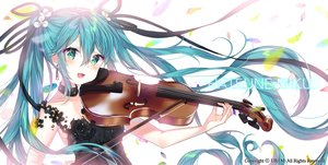Rating: Safe Score: 31 Tags: aqua_eyes aqua_hair dress hatsune_miku instrument long_hair twintails urim_(paintur) violin vocaloid watermark User: Fepple