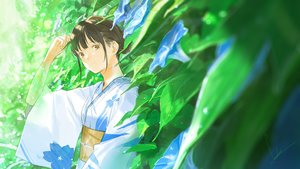Rating: Safe Score: 38 Tags: flowers japanese_clothes leaves loundraw original signed yukata User: FormX