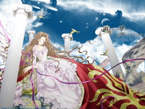 Rating: Safe Score: 16 Tags: animal bird brown_hair clamp code_geass dress long_hair nunnally_lamperouge ribbons User: 秀悟
