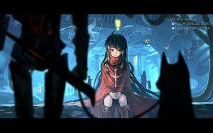 Rating: Safe Score: 80 Tags: black_hair boots long_hair original red_eyes silhouette yuushouku User: RyuZU