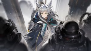 Rating: Safe Score: 55 Tags: animal_ears arknights game_cg gray_hair green_eyes long_hair male rosmontis_(arknights) tagme_(artist) User: Nepcoheart