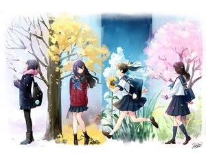 Rating: Safe Score: 41 Tags: autumn black_hair cherry_blossoms kazuharu_kina kneehighs long_hair original pantyhose seifuku signed skirt spring summer tree winter User: RyuZU