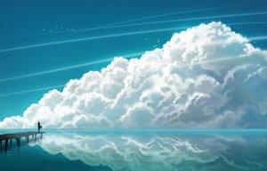 Rating: Safe Score: 93 Tags: animal bird blue clouds sky tagme water User: Oyashiro-sama