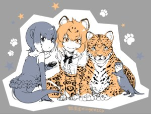 Rating: Safe Score: 15 Tags: 2girls animal animal_ears anthropomorphism catgirl elbow_gloves gloves gray_eyes gray_hair jaguar_(kemono_friends) kemono_friends ningenzoo orange_eyes orange_hair oriental_small-clawed_otter_(kemono_friends) polychromatic signed skirt tail thighhighs waifu2x User: otaku_emmy
