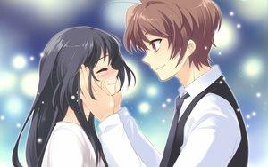 Rating: Safe Score: 55 Tags: blush crying flyable_heart itou_noiji katsuragi_syo kimi_no_nagori_wa_shizuka_ni_yurete shirasagi_mayuri tears User: Tensa