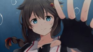 Rating: Safe Score: 124 Tags: blue_eyes braids brown_hair bubbles gloves kantai_collection long_hair ponytail seifuku shigure_(kancolle) underwater water yukichi_(eikichi) User: luckyluna