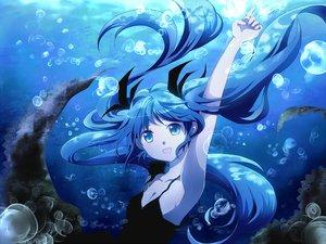 Rating: Safe Score: 107 Tags: blue_eyes blue_hair breasts cleavage deep-sea_girl_(vocaloid) dress hatsune_miku long_hair mariwai_(marireroy) twintails underwater vocaloid water User: HawthorneKitty