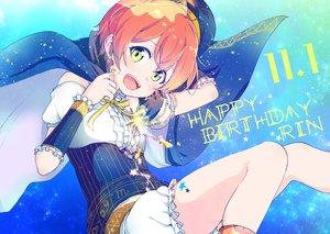 Rating: Safe Score: 17 Tags: bloomers bow cape hat hoshizora_rin itsuki_kuro love_live!_school_idol_project orange_hair short_hair yellow_eyes User: FormX
