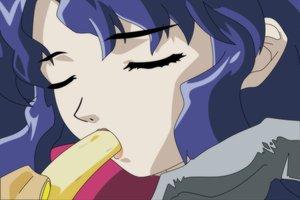 Rating: Safe Score: 6 Tags: blue_hair close excel_saga food hyatt vector User: Oyashiro-sama
