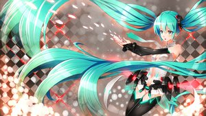 Rating: Safe Score: 63 Tags: aqua_eyes aqua_hair elbow_gloves gabiran gloves hatsune_miku long_hair miku_append panties thighhighs twintails underwear vocaloid User: HawthorneKitty