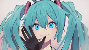 Rating: Safe Score: 37 Tags: blue_eyes blue_hair close gloves gradient hatsune_miku long_hair microphone shitoo twintails vocaloid User: RyuZU