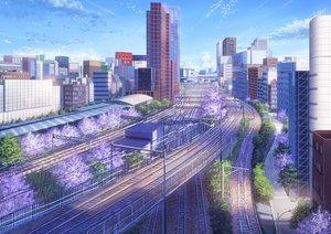 Rating: Safe Score: 93 Tags: building city clouds niko_p nobody original scenic sky train tree User: RyuZU