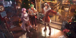 Rating: Safe Score: 46 Tags: animal_ears blue_eyes brown_hair christmas flowers gloves green_hair group hat horns ibara_dance jpeg_artifacts kido_saori leo_aiolia long_hair male ophiuchus_shaina pandora_(saint_seiya) pink_hair reflection saint_seiya short_hair snow User: BattlequeenYume