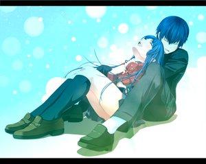 Rating: Safe Score: 110 Tags: blue_hair kawashima_ami school_uniform skirt takasu_ryuuji toradora tsukumo User: opai