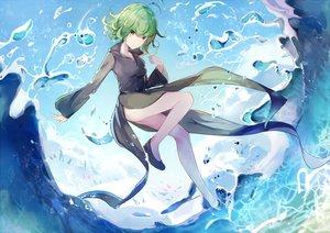 Rating: Safe Score: 131 Tags: clouds dress green_eyes green_hair mitu_yang onepunch_man short_hair sky tatsumaki_(onepunch_man) waifu2x water User: luckyluna