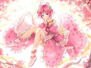 Rating: Safe Score: 103 Tags: animal_ears cherry_blossoms dennou_shoujo_youtuber_shiro dress flowers maeshimashi pink_eyes pink_hair ribbons shiro_(dennou_shoujo_youtuber_shiro) short_hair User: BattlequeenYume