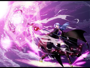 Rating: Safe Score: 67 Tags: black_eyes cape fate_(series) fate/stay_night gloves long_hair magic medea_(fate) mihane pointed_ears purple_hair staff thighhighs weapon User: Tensa