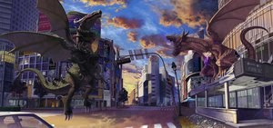 Rating: Safe Score: 42 Tags: city dragon higashiyama_hayato original User: FormX
