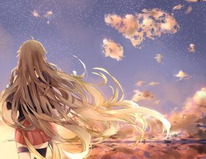 Rating: Safe Score: 90 Tags: blonde_hair clouds ia long_hair manako_(manatera) sky stars vocaloid User: FormX