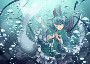 Rating: Safe Score: 44 Tags: animal_ears aqua_eyes blue_hair blush bubbles japanese_clothes kimono lolita_fashion mermaid short_hair touhou toutenkou underwater wakasagihime water User: otaku_emmy