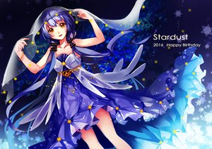 Rating: Safe Score: 46 Tags: blue_hair dress feng_you headdress long_hair orange_eyes stars twintails vocaloid vocaloid_china wristwear xingchen User: otaku_emmy