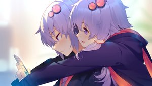 Rating: Safe Score: 20 Tags: blush close hoodie hug long_hair male original phone purple_eyes purple_hair shirinda_fureiru short_hair twins vocaloid voiceroid yuzuki_yukari User: otaku_emmy