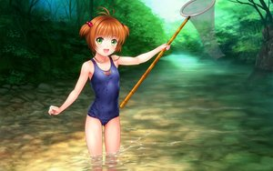 Rating: Safe Score: 78 Tags: blush brown_hair cameltoe card_captor_sakura green_eyes kinomoto_sakura loli moonknives school_swimsuit short_hair swimsuit water wet User: SciFi