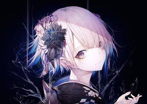 Rating: Safe Score: 80 Tags: close flowers hito_komoru japanese_clothes kimono original polychromatic short_hair User: Dreista