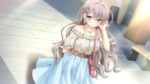 Rating: Safe Score: 62 Tags: brown_eyes game_cg gray_hair hulotte ikegami_akane matsuyuki_ame ore_no_sugata_ga_toumei_ni!?_invisible_to_suuki_na_unmei User: Arsy