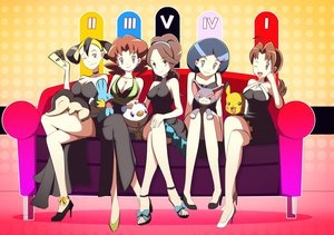 Rating: Safe Score: 101 Tags: breasts cleavage cyndaquil dress glameow mudkip oshawott pikachu pokemon User: FormX