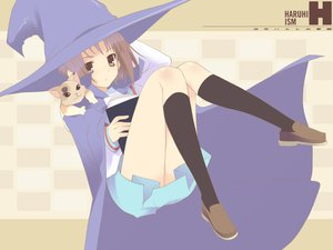Rating: Safe Score: 17 Tags: animal book cat nagato_yuki shamisen suzumiya_haruhi_no_yuutsu witch User: Oyashiro-sama