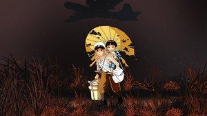 Rating: Safe Score: 35 Tags: aircraft ghibli grass hat hotaru_no_haka kuzakawe_maron male night tagme umbrella User: gnarf1975