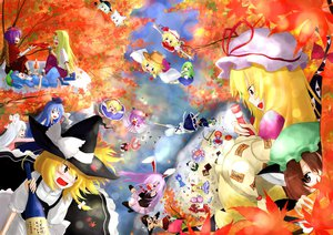 Rating: Safe Score: 39 Tags: alice_margatroid animal_ears autumn bunnygirl catgirl chen cirno drink fairy flandre_scarlet fujiwara_no_mokou group hakurei_reimu hoshiguma_yuugi ibuki_suika inaba_tewi inubashiri_momiji izayoi_sakuya japanese_clothes kamishirasawa_keine kawashiro_nitori kirisame_marisa kochiya_sanae komeiji_koishi konpaku_youmu leaves maid miko moriya_suwako myon onozuka_komachi patchouli_knowledge reisen_udongein_inaba saigyouji_yuyuko shameimaru_aya shikieiki_yamaxanadu touhou tree vampire witch wolfgirl yakumo_yukari yasaka_kanako yuu-rin User: austerely