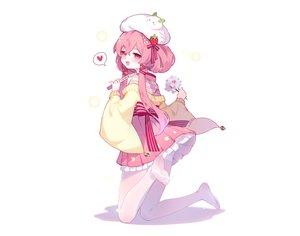 Rating: Safe Score: 45 Tags: blush flowers hat heart honkai_impact japanese_clothes lolita_fashion long_hair pantyhose pink_eyes pink_hair tagme_(character) tsubasa_tsubasa white User: otaku_emmy