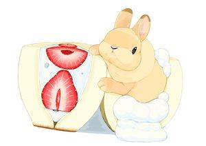 Rating: Safe Score: 19 Tags: animal food fruit lilac_(pfeasy) original rabbit strawberry waifu2x white User: otaku_emmy