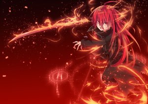 Rating: Safe Score: 113 Tags: blood long_hair magic nakada_daichi red_eyes red_hair shakugan_no_shana shana sword torn_clothes weapon User: Wiresetc