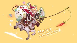 Rating: Safe Score: 15 Tags: apple blue_eyes christmas dress food fruit hat horns kang_kang_zi orange orange_hair original pointed_ears santa_costume santa_hat short_hair User: RyuZU