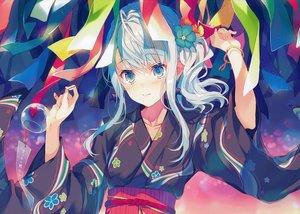 Rating: Safe Score: 63 Tags: aqua_eyes blush japanese_clothes reia scan white_hair yukata User: mattiasc02