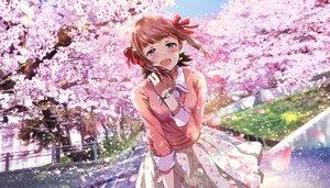 Rating: Safe Score: 53 Tags: aliasing amami_haruka cherry_blossoms flowers hina_(araburu-hinadori) idolmaster tree User: BattlequeenYume