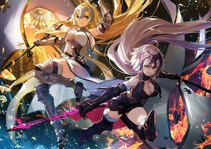 Rating: Safe Score: 63 Tags: armor blonde_hair breasts cleavage fate/grand_order fate_(series) jeanne_d'arc_alter jeanne_d'arc_(fate) long_hair nima_(niru54) sword weapon User: Dreista
