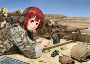 Rating: Safe Score: 92 Tags: blonde_hair gun jpc male military red_hair tagme uniform weapon User: luckyluna