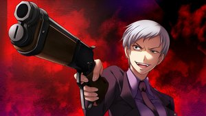 Rating: Safe Score: 26 Tags: breasts gray_hair gun short_hair tagme_(artist) tie umineko_no_naku_koro_ni ushiromiya_kyrie weapon User: RyuZU